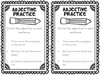 Grammar Interactive Notebook: Adjectives and Adverbs