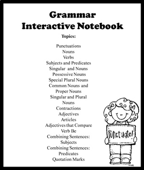 ELA Conventions/ Grammar Interactive Notebook:  Highlight Cut and Paste
