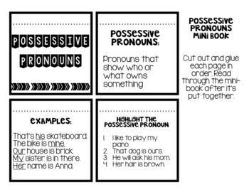 Grammar Interactive Notebook: Pronouns