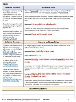 Grammar, Usage, & Mechanics Grades 4-8 Interactive Notebook | Distance Learning