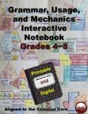 Grammar, Usage, & Mechanics Grades 4-8 Interactive Noteboo