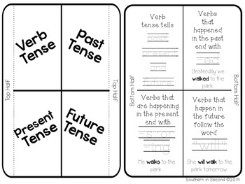 Grammar Interactive Notebook: Verbs