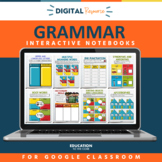 Digital Grammar Interactive Notebooks: Volume 2   Grammar Practice