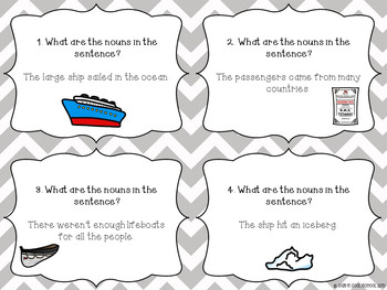 Grammar Interactive Notebook and Task Cards for Nouns