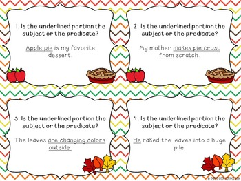 Grammar Interactive Notebook and Task Cards for Sentences