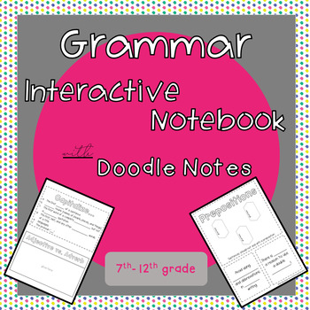 Grammar Interactive Notebook with Doodle Notes
