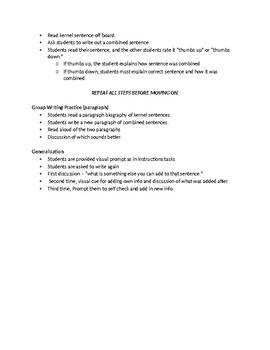Grammar Intervention/Syntax Intervention