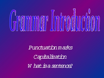 Grammar Introduction 2nd grade