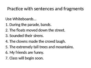 Grammar Introduction - Sentences