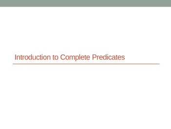 Grammar Introduction to Complete Predicates PowerPoint Using Historical Facts