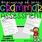 Beginning of the Year- Grammar Assessment
