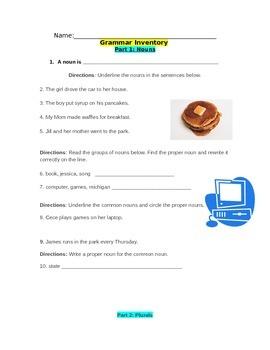 Grammar Inventory (Grades 3-7)