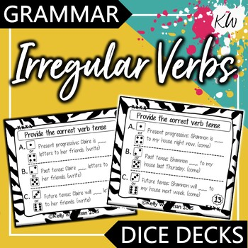 Irregular Verbs - Interactive Task Cards - Grammar