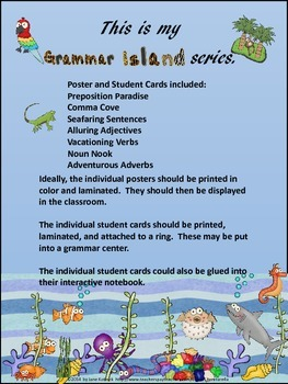 Grammar Island Series Posters and Student Cards