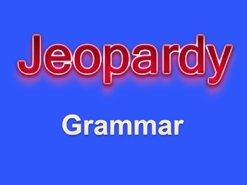 Middle School Grammar Jeopardy PowerPoint Game
