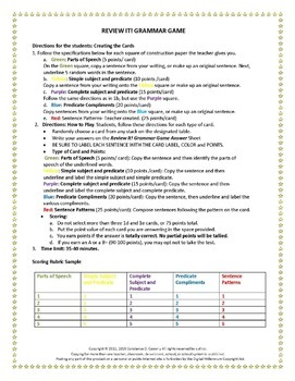 GRAMMAR GAME ACTIVITY- REVIEW IT!