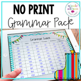 No Print Grammar Pack for Speech and Language