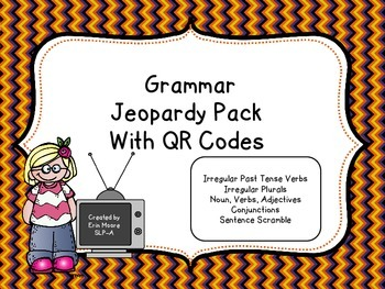 Grammar Jeopardy with QR codes