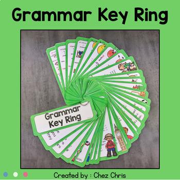 English Grammar Rules Key Ring