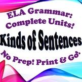 Grammar: Kinds of Sentences - Complete Unit!