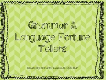 Grammar & Language Fortune Tellers