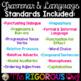 4th Grade Grammar and Language YEAR LONG Bundle!