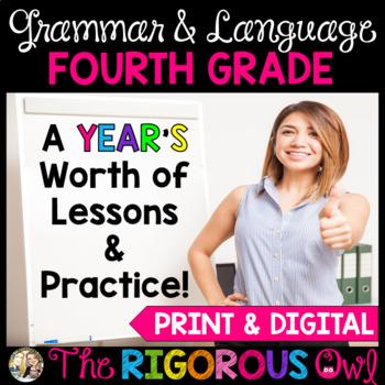 4th Grade Grammar & Language YEAR LONG Bundle! Print & Digital Distance Learning