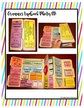 Grammar Lapbook: Through the Year Interactive Kit