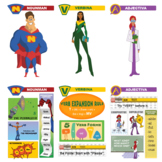 Grammar League Introductory Video and Parts of Speech Poster Set