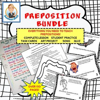 Grammar Lesson 1: Teaching Prepositions Bundle