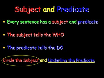 Grammar Lesson 12: Subject and Predicate Review