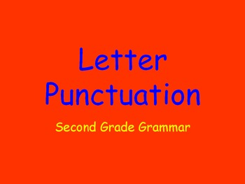 Grammar Lesson 13: Letter Punctuation FREEBIE