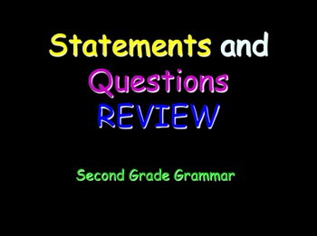 Grammar Lesson 4: Statements and Questions Review