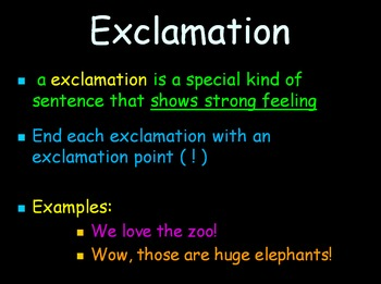 Grammar Lesson 6: Identifying Exclamations