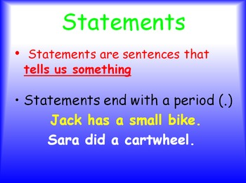 Grammar Lesson 9: Punctuating the End of a Sentence