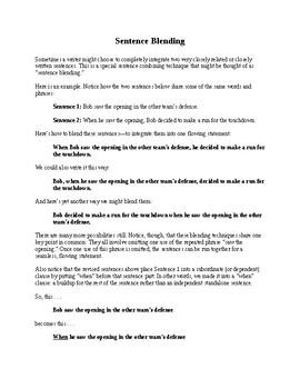 Grammar Lesson: Sentence Blending