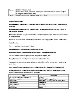 Grammar Lesson & Worksheets: Choosing Among Sentence Types