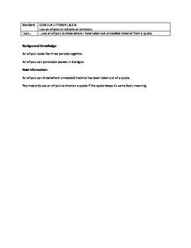 Grammar Lesson & Worksheets: Ellipsis for Omission
