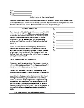 Grammar Lesson & Worksheets: Grammatical Mood