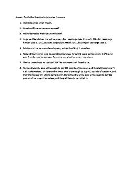 Grammar Lesson & Worksheets: Using Intensive Pronouns
