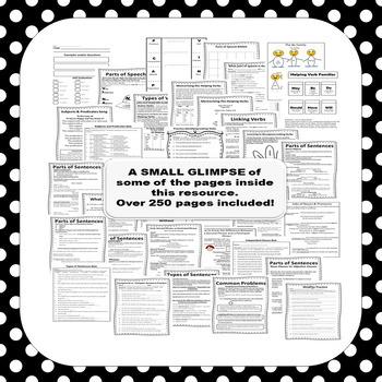 Grammar Lesson of the Week Mega Bundle ~Middle School ELA