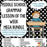 Grammar Lesson of the Week ~Middle School ELA Printable and Google!