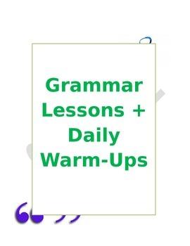 Grammar Lessons + Grammar Warm-Ups