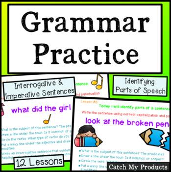 Grammar Practice: Parts of Speech-Interrogative & Imperati