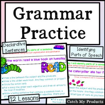 Grammar Lessons (Identify Parts of Speech in Declarative Sentences) Activinspire