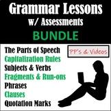 Grammar Lessons w/ Assessments BUNDLE