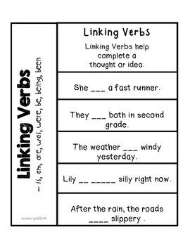Grammar- Linking Verbs {Interactive Notebook}