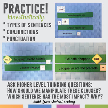 Grammar Manipulations: Types of Sentences, Conjunctions, Punctuation