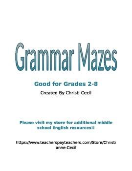 Grammar Mazes
