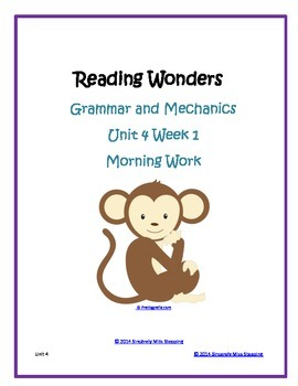 Morning Work - Reading Wonders Freebie